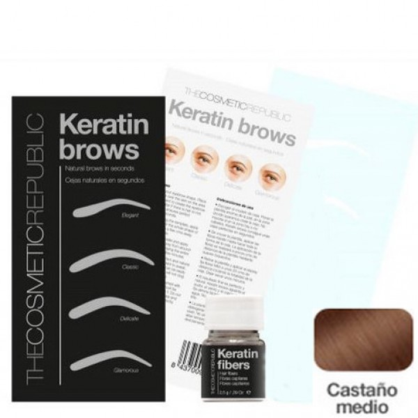Kit Keratin Brows Castaño Medio